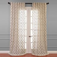 EFF Saida Embroidered Sheer Curtain - 50'' x 120''