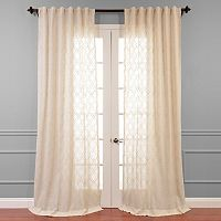 EFF Saida Embroidered Sheer Window Curtain