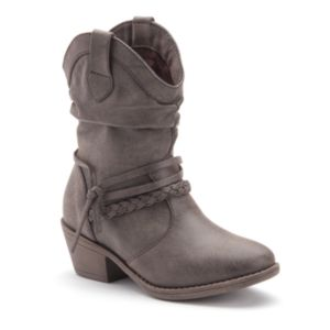 Mudd® Girls' Strappy Slouch Western Ankle Boots