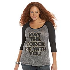 Plus Size Rock & Republic® Star Wars ''May The Force Be With You'' High-Low Top