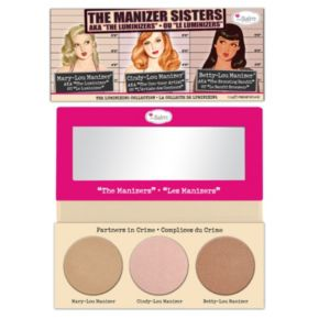 theBalm The Manizer Sisters Luminizer Collection Palette