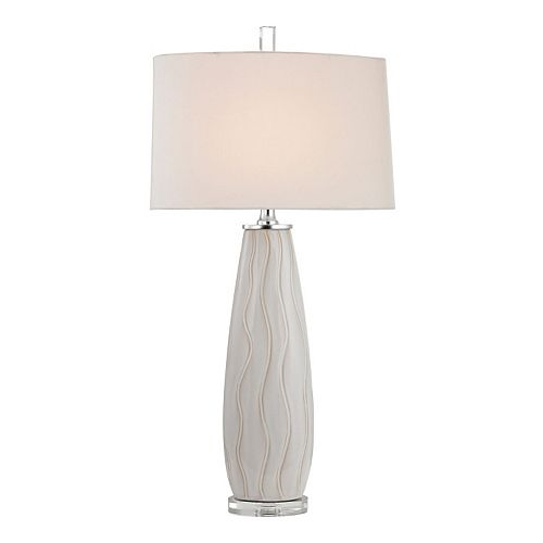 Dimond Wave Ceramic Table Lamp