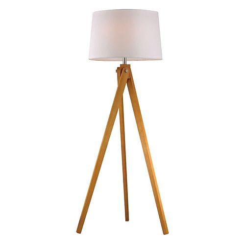 Dimond Wooden Tripod LED Floor Lamp