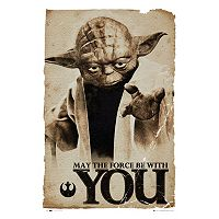Art.com Star Wars Yoda ''May The Force'' Poster Wall Art