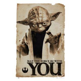 Art.com Star Wars Yoda ''May The Force'' Poster Wall Art