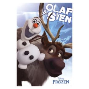 Disney's Frozen Olaf and Sven Poster Wall Art by Art.com