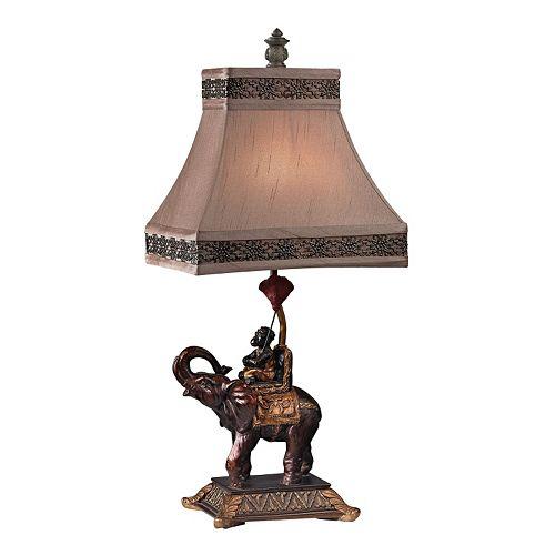Dimond Alanbrook Monkey on Elephant Table Lamp