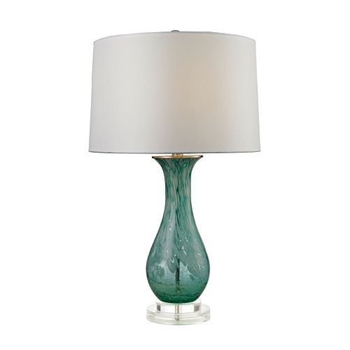 Dimond Swirl Glass LED Table Lamp