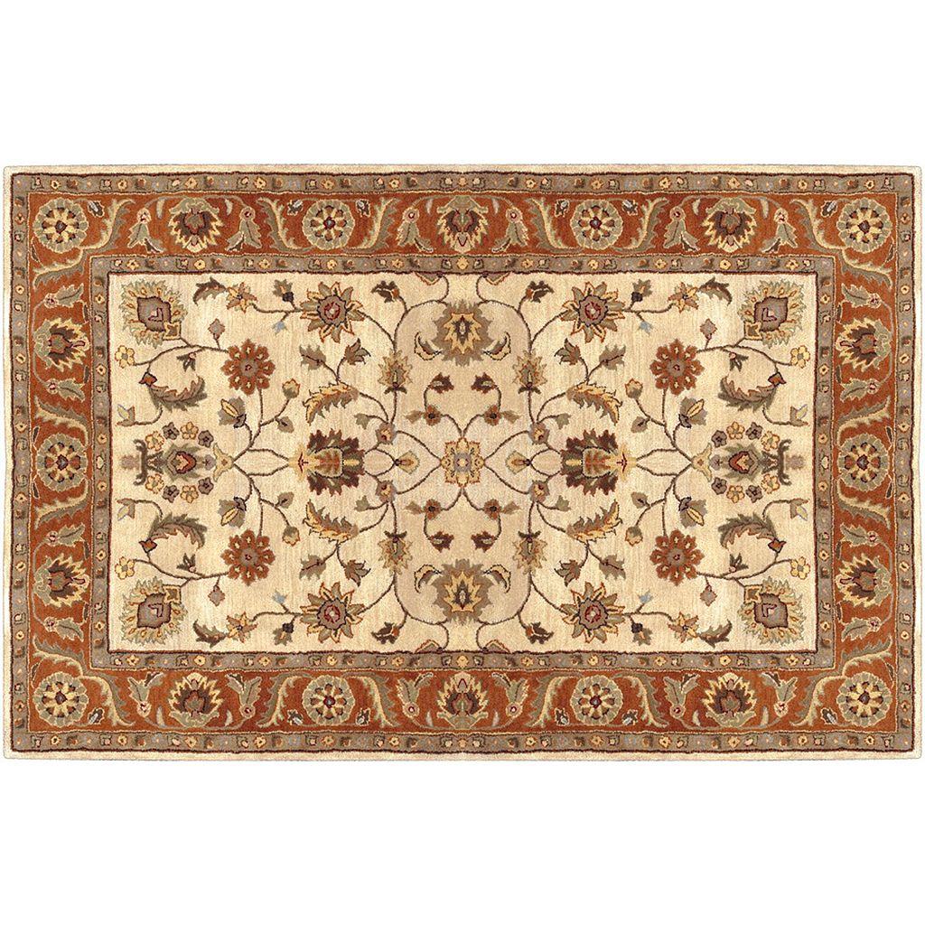 Artisan Weaver Natrona Floral Framed Wool Rug