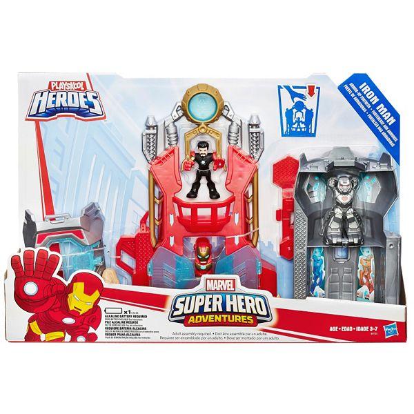 Roblox Iron Man Battle Playskool Heroes Marvel Super Hero Adventures Iron Man Armor Up Fortress By Hasbro