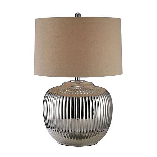 Dimond Trump Home Ribbed Ceramic LED Table Lamp