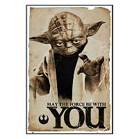 Art.com Star Wars Yoda ''May The Force'' Framed Wall Art