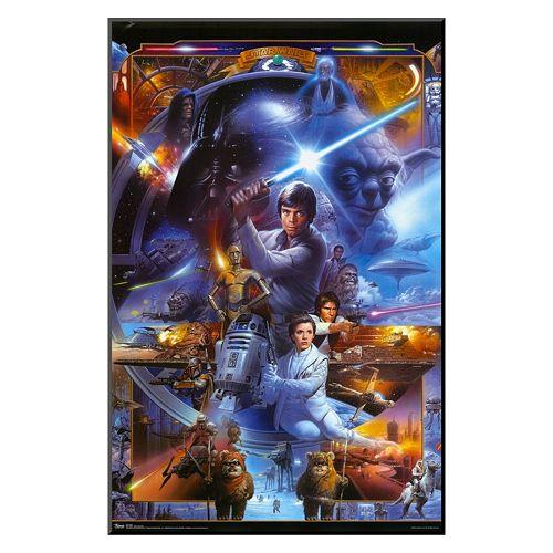 Art.com Star Wars Saga Collage Framed Wall Art