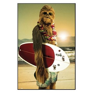Art.com Star Wars Surfs Up Framed Wall Art