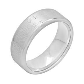 "Stainless Steel ""The Lord's Prayer"" Band - Men"