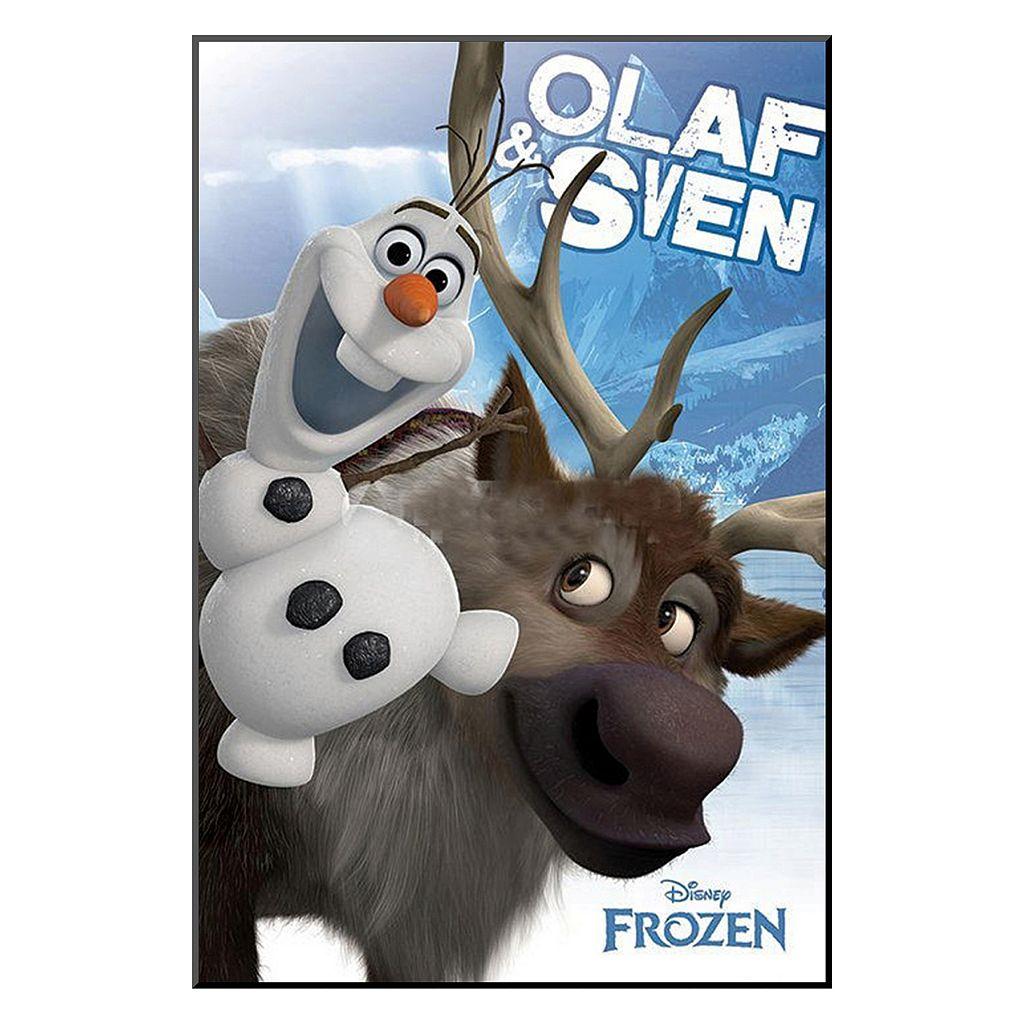 Disney's Frozen Olaf and Sven Framed Wall Art by Art.com