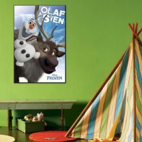 Disney's Frozen Olaf and Sven Framed Wall Art by Art.com