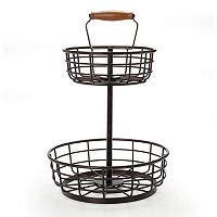 Gourmet Basics Thread 2-Tier Storage Basket