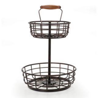 Gourmet Basics Thread 2-Tier Storage Basket
