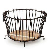 Gourmet Basics Vintage Round Storage Basket