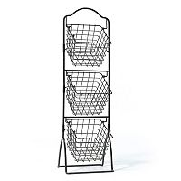 Gourmet Basics General Store 3-Tier Market Storage Basket Stand