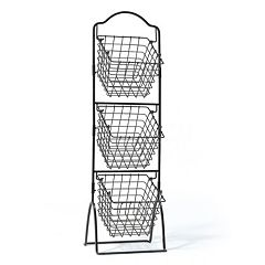 Gourmet Basics General Store 3 tier Market Storage Basket Stand
