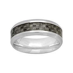 Stainless Steel & Carbon Fiber Woven Band - Men