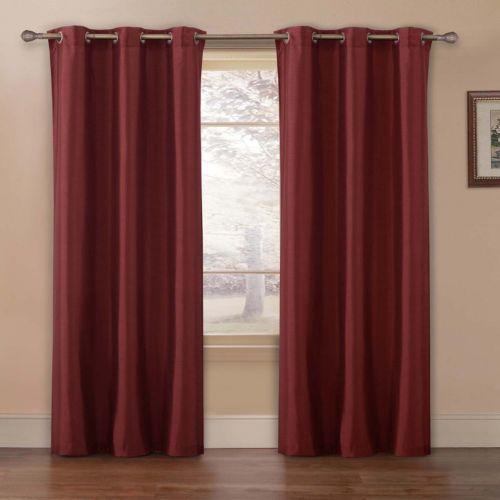 VCNY Preston Faux-Silk 2-pk. Curtains - 40