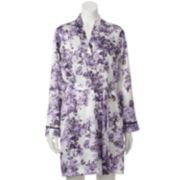 Apt. 9® Lavender Rose Satin Wrap Robe - Women's