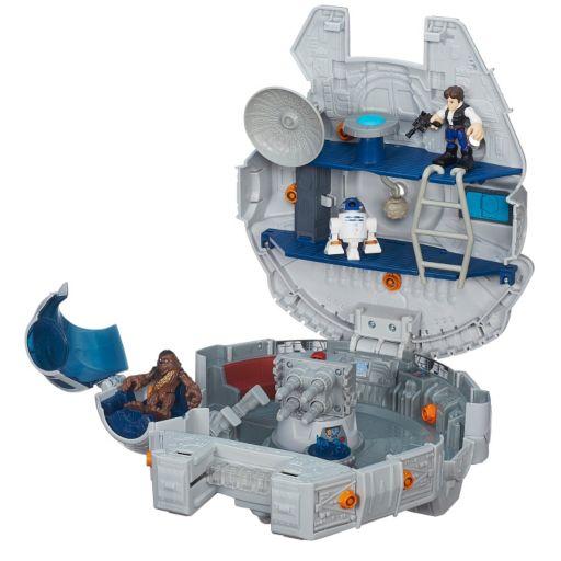 Star Wars Galactic Heroes Millennium Falcon & Figures Set by Playskool