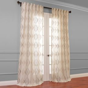 EFF Suez Embroidered Sheer Window Curtain
