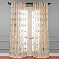 EFF Suez Embroidered Sheer Window Curtain