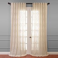 EFF Suez Embroidered Sheer Window Curtain - 50'' x 108''