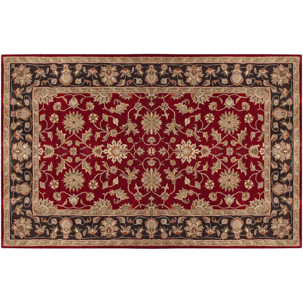 Artisan Weaver Pawnee Floral Framed Wool Rug