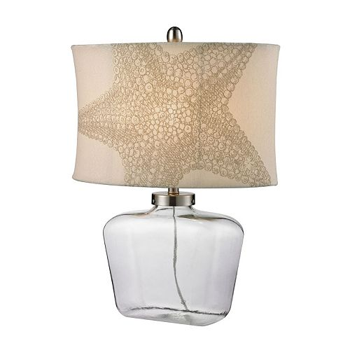 Dimond Starfish Glass Table Lamp