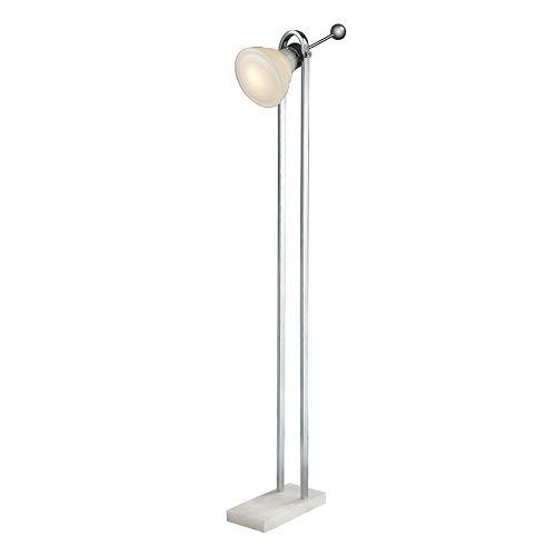 Dimond Adjustable Glass LED Floor Lamp