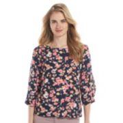 LC Lauren Conrad Bow-Sleeve Crepe Top - Women's