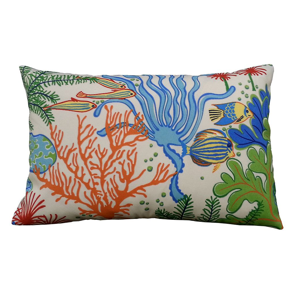 Edie, Inc. Splish Splash 13'' x 20'' Outdoor Throw Pillow
