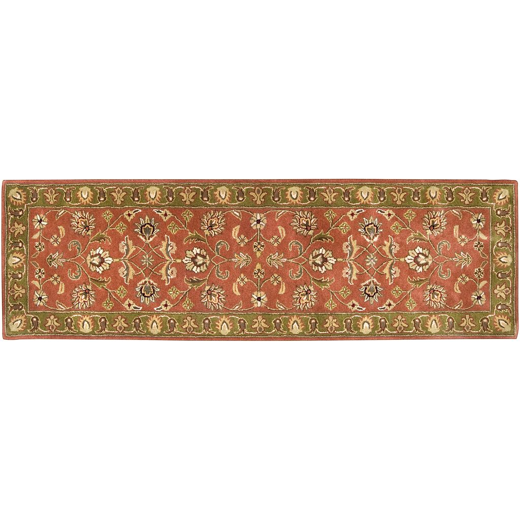 Artisan Weaver Phelps Floral Framed Wool Rug