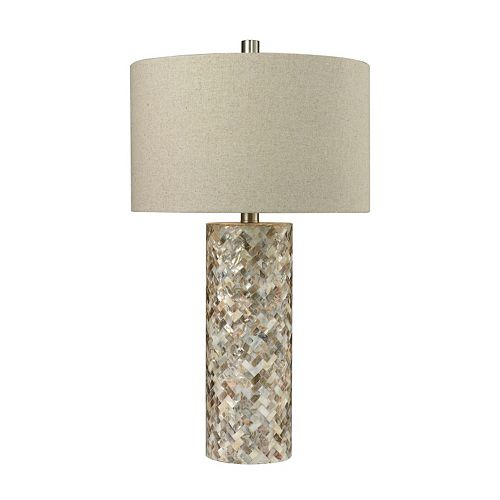 Dimond Trump Home Herringbone Mother-of-Pearl Table Lamp