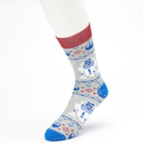 Men's Star Wars R2-D2 Fairisle Sweater Crew Socks | null