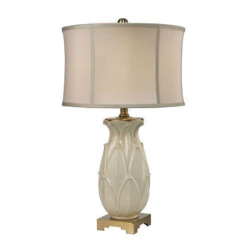 Dimond Leaves Ceramic LED Table Lamp