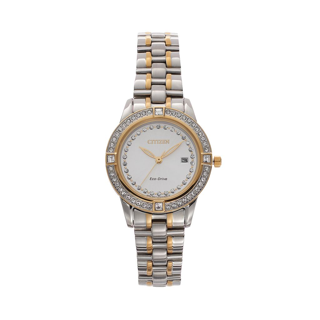 Citizen Eco-Drive Women's Silhouette Two Tone Stainless Steel Watch - FE1154-57A