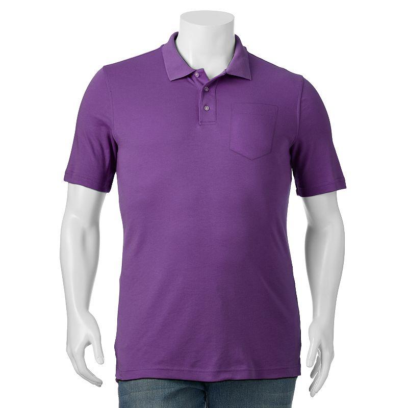 Men's Croft & Barrow® Solid Interlock Easy Care Pocket Polo