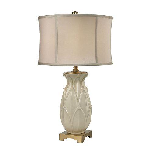 Dimond Leaf Ceramic Table Lamp