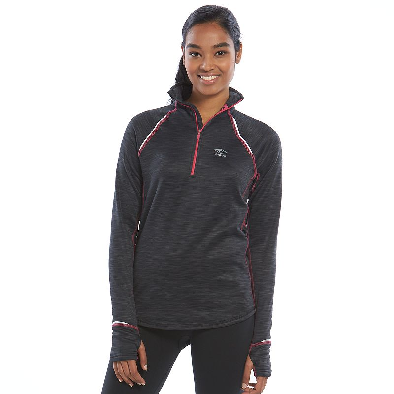 Umbro Space-Dye Fleece Half-Zip Workout Jacket - Women's
