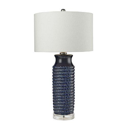 Dimond Warped Rope Ceramic Table Lamp