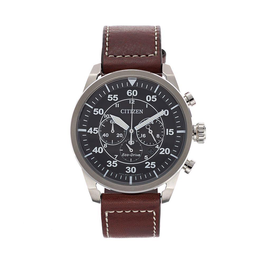 Citizen Eco-Drive Men s Avion Leather Chronograph Watch - CA4210-24E 829d429f5b3d