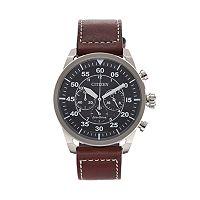 Citizen Eco-Drive Men's Avion Leather Chronograph Watch - CA4210-24E