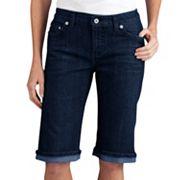 Dickies Slim Stretch Straight-Leg Denim Shorts - Women's